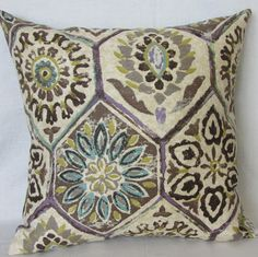 Decorative IKAT Pillow Cover 16 x 16 and 12 x 16 by mummiquilts