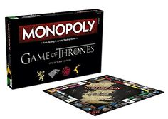 Monopoly: Game of Thrones Collector's Edition Board Game - An elegant, unique and special edition MONOPOLY game for Game of Thrones fans All aspects of the game are customized; including oversized tokens, custom game board, cards, MONOPOLY money, rules and more! Perfect gift or activity for Game of Thrones fans