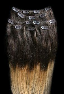 22 100% REMY Human OMBRE Hair Extensions 7Pcs Clip in T4/27 * This is an Amazon Affiliate link. For more information, visit image link.
