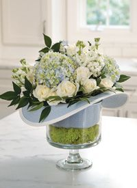 church hat centerpieces - Google Search