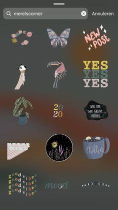 Search for merelscorner for stickers for insta stories or Instagram Blog, Instagram Emoji, Creative Instagram Stories, Instagram And Snapchat, Instagram Story Ideas, Instagram Quotes, Story Snapchat, Snapchat Search, Snapchat Stories