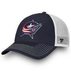 559d8e80683 Youth Columbus Blue Jackets Fanatics Branded Navy White Core Trucker - Adjustable  Hat