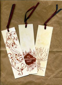 Harry Potter Marauder's Map bookmarks