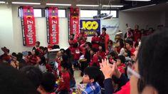 2014 J3 第32節 ツエーゲン金沢vs琉球戦 勝利の歌 100満ボルト金沢本店PV会場