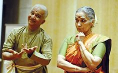 75-year-old Krishna, 70-year-old Radha and a narrative that never gets old!  The Dhananjayans perform at the launch of Master of Arts: A Life in Dance by Tulsi Badrinath. It's a book that chronicles the life of legendary dancer VP Dhananjayan.