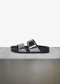 Orion Metallic Sandal #shoes #vince
