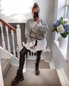 16 casual combinations of shirts and sweaters for every day - Outfits ♡ - Winter Mode Cute Winter Outfits, Fall Outfits, Casual Outfits, Look Fashion, Fashion Outfits, Womens Fashion, Fashion Wear, Trendy Fashion, Fashion Tips