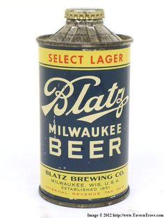 Blatz MIlwaukee Beer- Vintage Beercan.