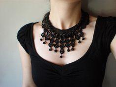 Black Lace - Spirit ... Freeform Crochet Necklace by irregular expressions, via Flickr