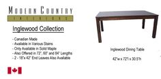 Inglewood dining table