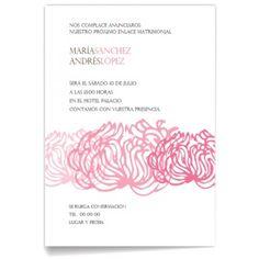 Invitaciones de boda Floreada Rosa