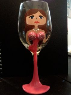 personalized painted wine glasses by dananelsen on Etsy, $15.00