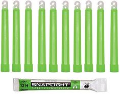 Cyalume SnapLight Green Glow Sticks - 6 Inch Industrial Grade, High Intensity Light Sticks with 12 Hour Duration (Pack of 10): Amazon.co.uk: DIY & Tools