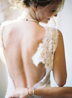 lace gown with the most gorgeous open back