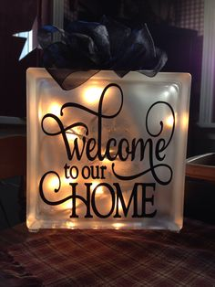 Welcome to our home - Glass Block