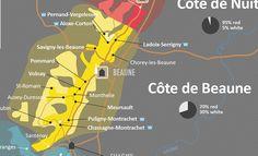Côte de Beaune Wine Map