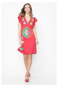 Desigual Red summer dress. Discover the spring-summer 2016 collection!
