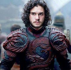 Jon Snow in Targaryen armor. targaryen tattoo Jon Snow in Targaryen armor. Dessin Game Of Thrones, Got Game Of Thrones, Game Of Thrones Funny, John Snow, Kit Harrington, Winter Is Here, Winter Is Coming, Arya Stark, Jon Targaryen