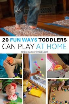 These easy toddler activities are perfect to do at home, independently or with a friend. And, many of them will still be enjoyable as your toddler transitions into a preschooler! #toddlers #toddleractivities #home #toddlerplay #AGE2 #teaching2and3yearolds