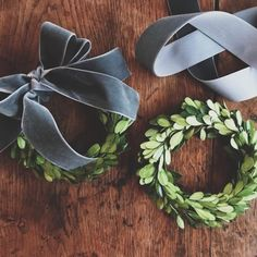 I searched for a hours for the perfect dusty blue/gray velvet ribbon for our home this Christmas and finally found it. So I'm sharing my… Blue Christmas Decor, Christmas Is Over, Christmas Time Is Here, Merry Little Christmas, Winter Christmas, All Things Christmas, Christmas Wreaths, Christmas Decorations, Holiday Decor