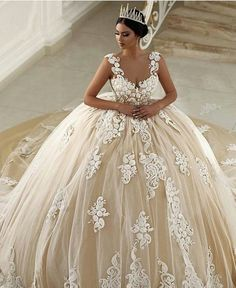 Ball Gown Plus Size Wedding Dresses Lovely 2017 Champagne Saudi . Wedding Gown plus size ball gown wedding dresses Best Wedding Dresses, Bridal Dresses, Wedding Gowns, Lace Wedding, Yellow Wedding, Modest Wedding, Elegant Wedding, Wedding Bride, Wedding Happy