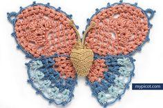 MyPicot | Free crochet patterns butterfly