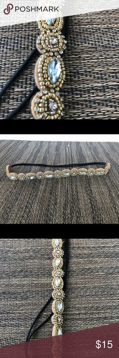 Beautiful metallic beaded headband Mixed metals make this headband the perfect accessory for any outfit or festival! Accessories Hair Accessories