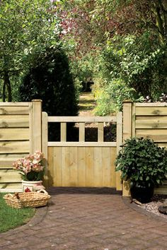 Wooden Garden Gate - Solid Infil Path Gate Free P&p