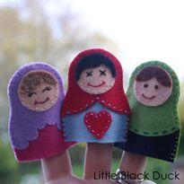 Matryoshka Doll Finger Puppet: Free PDF Pattern