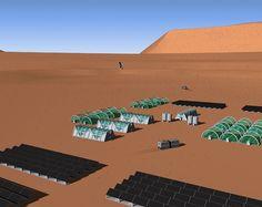 Space Settlement Art Contest - Mars One Settlement