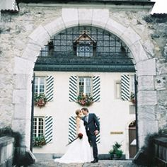 A beautiful destination wedding at a castle in Switzerland.