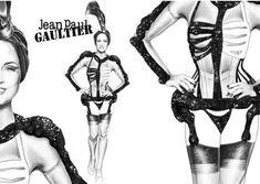 Dita Von Teese. Ontwerp van Jean Paul Gaultier. (Zie Youtube)
