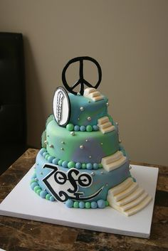 Happy Birthday, Jimmy ! Sorry, all those candles won't fit. Led Zeppelin cake by Cake Madam, via Flickr.