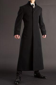 スタンドカラーコート Moda Cyberpunk, Cyberpunk Clothes, Male Clothes, Mens Fashion Suits, Fashion Outfits, Man's Overcoat, Concept Clothing, Gentleman Style, New Wardrobe