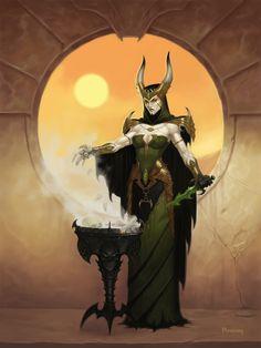 Dark Sun Witch by namesjames.deviantart.com on @deviantART