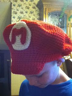 Mario/Luigi hats-free pattern  I will be searching for an adult-sized pattern :)