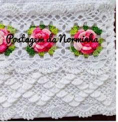 Croche - Um NOVO BARRADO da Norminha em formas de buquês ...... | OFICINA DO BARRADO | Bloglovin'