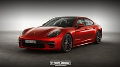 2018 Porsche Panamera GTS Rendering Is Red, Signals Things to Come