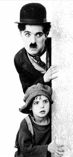 "Charlie Chaplin with ""Jackie Coogan"""