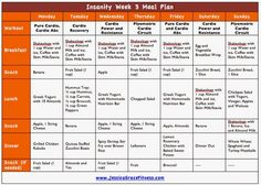 Jessica Grace Fitness: Insanity Week 3 Meal Plan