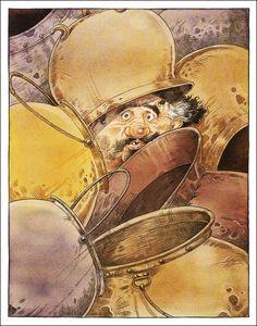 Don Quixote/ Miguel De Cervantes, retold by Martin Jenkins/ Walker Books, Illustrator: Chris Riddell Chris Riddell, Dom Quixote, Quentin Blake, Illustrations And Posters, Cartoon Art, Line Art, Illustrators, Brave, Book Art