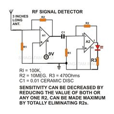 How to Build a Simple Non-Contact AC Voltage Detector, Sensor, Tester - Construction Explained Electronic Circuit Projects, Electronic Engineering, Electrical Engineering, Diy Electronics, Electronics Projects, Diy Tesla Coil, Battery Charger Circuit, Simple Circuit, Electronic Schematics
