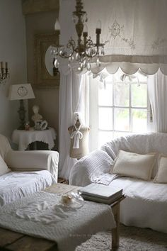 cottage of white and ivory...