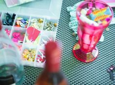 Pink fizz and a retro sweet fix are part of Top Drawer Diva's knicker-making #henparty packages
