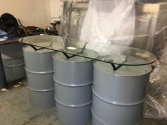 Oil drum counter