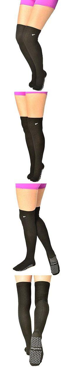 Socks 66078: Treadfast Grippy Socks Non Slip Thigh High For Pilates, Barre, Yoga -> BUY IT NOW ONLY: $38.98 on eBay!