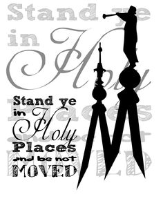 2013 Theme - Stand ye in holy places
