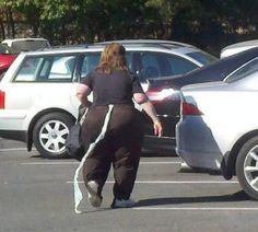 Again on her weekly jaunt to Walmart, Darleen found a way to smuggle out an extra roll.