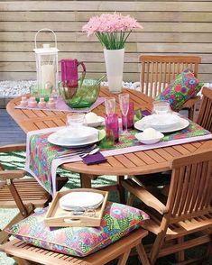 Encantadoras mesas de jardín