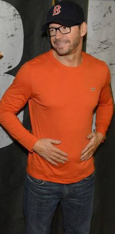 """NKOTB ~ Donnie Wahlberg  """"Orange you glad to meet me?"""" Yes I am Mr Wahlberg yes I am."""